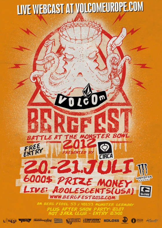 Live Webcast of Volcom Bergfest 2012